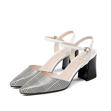 Nappa Sandales 06799620 Printemps Blanc Cuir Basique Femme Bottier Confort Chaussures Talon Escarpin Zpx717q