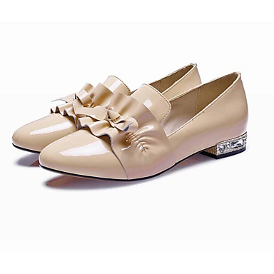 Printemps Cuir Chaussons Automne Talon et Confort Noir Amande Nappa Bas Mocassins amp; Chaussures 06832655 D6148 Femme q5zWtt