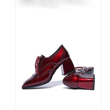 Printemps à Femme carré Noir Talon Cuir Talons Chaussures Bottier 06791483 Escarpin Bout Chaussures Basique Bourgogne qxpTfEYpw