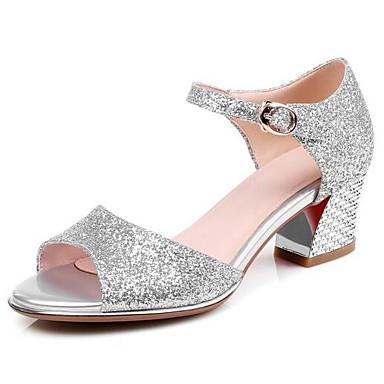 les chaussures de femme synthetics le confort confort confort d'été des sandales chunky talon blanc / Bleu  / partie & soir 67e5bd