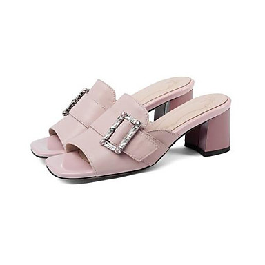 Bottier Femme Sandales Confort Cuir Rose 06799154 Blanc Talon Chaussures Nappa Eté pFA0Cq