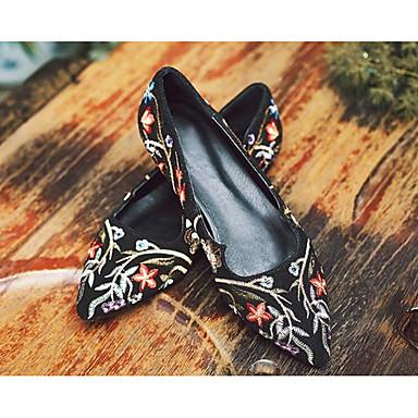 Chaussures 06833520 Ballerines Talon Daim Printemps Femme Noir Confort Plat UwdaqqxA6