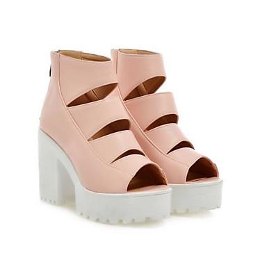 Basique à Escarpin Rose Noir Bout 06837605 Eté ouvert Femme Chaussures Chaussures Marche Talon Bottier Confort Talons Polyuréthane xwIHX660nq