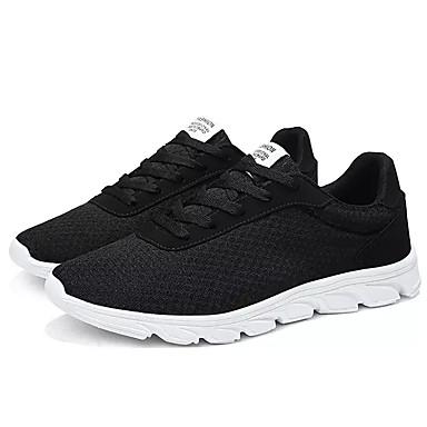 Muškarci Mrežica / Elastična tkanina Jesen Udobne cipele Atletičarke tenisice Trčanje Crn / Dark Blue / Sive boje