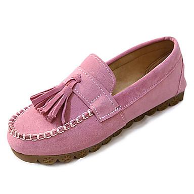 Marrón Rosa Borla Zapatos y de Plano Beige On Tacón Slip taco bajo 06827377 Zapatos Confort Verano Mujer Ante OIxw8qFZFa