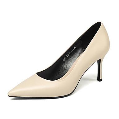 Chaussures Confort Automne Chaussures Rouge Aiguille Cuir 06831389 Talon à Talons Noir Basique Femme Printemps Nappa Beige Escarpin WBX8ZInq