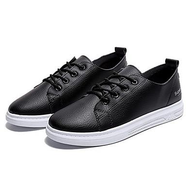 Žene Cipele PU Ljeto Udobne cipele Sneakers Ravna potpetica Okrugli Toe Obala / Crn / Pink