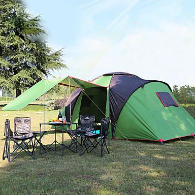 Hewolf 6 شخص خيمة كبيرة خيمة التخييم العائلية في الهواء الطلق ضد الهواء مكتشف الأمطار UPF50+ طبقات مزدوجة قطب الماسورة خيمة التخييم >3000 mm إلى Camping / Hiking / Caving قماش اكسفورد 490*230*195 cm