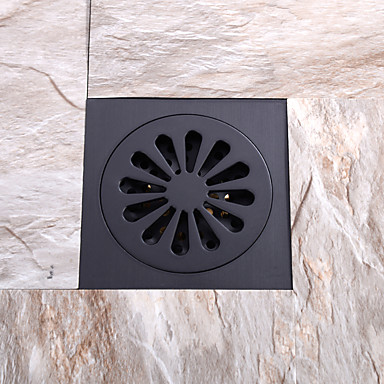 Faucet accessory - Superior Quality - Contemporary Brass Floor Drain - Finish - Oil Rubbed Bronze