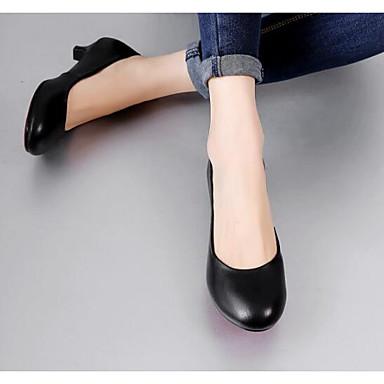 Basique Escarpin à Kitten Femme Automne Noir Chaussures Talons Cuir Nappa Printemps Heel 06791584 Confort Chaussures BaB0wqY