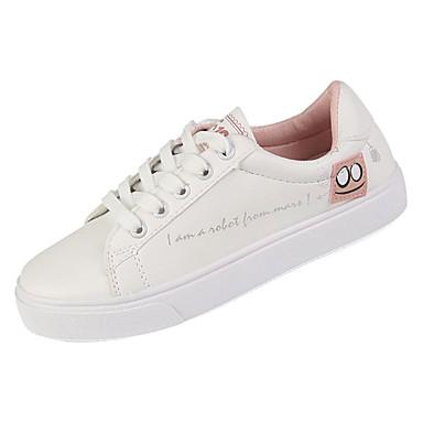 redondo Mujer Negro de deporte Zapatos Rosa Plano 06779220 Confort Otoño Dedo Zapatillas Tacón PU vag1xqvwW4