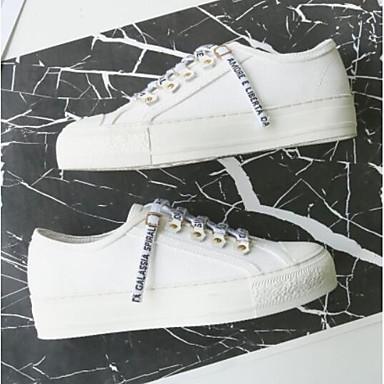 06776837 Chaussures Eté Blanc Talon Toile Bout de Basket jean rond Confort Noir Plat Femme w64qFxpOAF