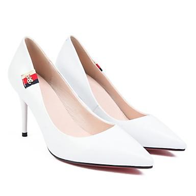 à 06797468 Chaussures Basique Escarpin Eté Noir Femme Talon Aiguille Chaussures Talons Blanc Cuir Nappa Owg0nxdq