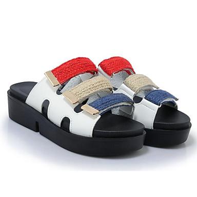 Noir Polyuréthane Tongs 06811119 Creepers Eté Vert Chaussons Confort Femme Chaussures Blanc amp; ROqwgfZ