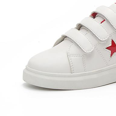 Mujer Zapatillas Tacón Plano Otoño Confort 06830496 Rojo deporte Zapatos de redondo Negro Dedo PU rxSTrAwq1
