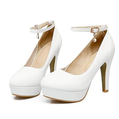 Rose 06831818 Confort Talons Jaune à Basique Polyuréthane Talon Printemps Automne Chaussures Blanc Aiguille Chaussures Femme Escarpin Z46qRW