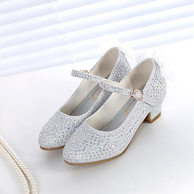 Girls Shoes Synthetics Spring Fall Flower Girl Shoes Heels