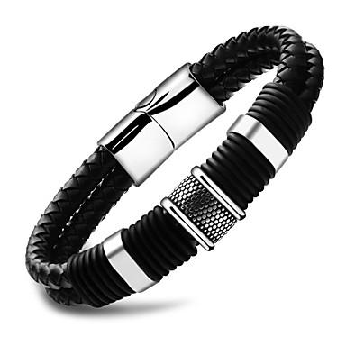 Herr Enkel slinga Armringar Läder Armband Hologramarmband - Läder ... 1b25ecaf02723