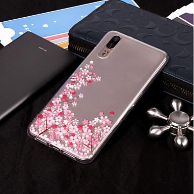 Θήκη Za Huawei P20 Pro / P20 lite IMD / Prozirno / Uzorak Stražnja maska Cvijet Mekano TPU za Huawei P20 / Huawei P20 Pro / P10 Plus / P10 Lite