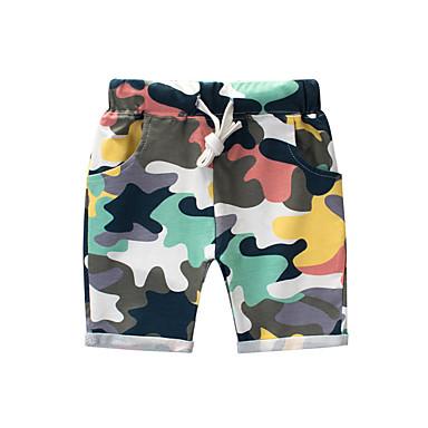billige Bukser til gutter-Barn Gutt Vintage Ensfarget Bomull Shorts Regnbue