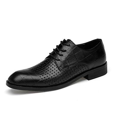 les chaussures de confort d'été officiel de cuir noir noir noir nappa brun / oxford 2d3302