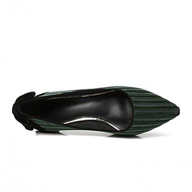 à Talon Basique amp; Chaussures Aiguille 06835704 Faux Printemps Escarpin Bout pointu Femme Chaussures Cuir Vert Automne Noir Talons HwPn44zq