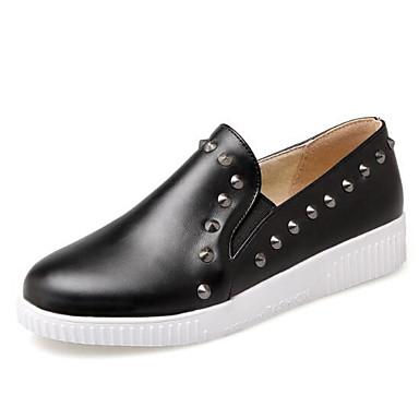 Beige Confort Negro Slip Blanco taco 06840117 Punta Tacón cerrada PU On Zapatos Verano y Zapatos Plano Primavera bajo Mujer de w4UIqTW