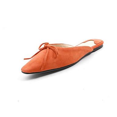 Confort Talon Femme Chaussures Eté de amp; 06783152 Sabot Peau Amande Mules Plat mouton Orange Noir xTXnrHTz