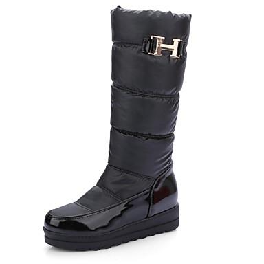 Bleu Chaussures Creepers Femme Rouge Bottes Confort Polyuréthane hiver Automne 06818549 Noir Rqqdzw4