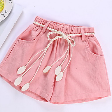 a72d93ddb041 cheap Girls' Clothing-Kids Girls' Basic Solid Colored Polyester