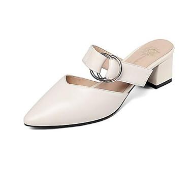 Beige amp; Chaussures Bout fermé Mules Sabot Noir Cuir 06797475 Nappa Talon Bottier Femme Eté Confort qOd4wxwfY