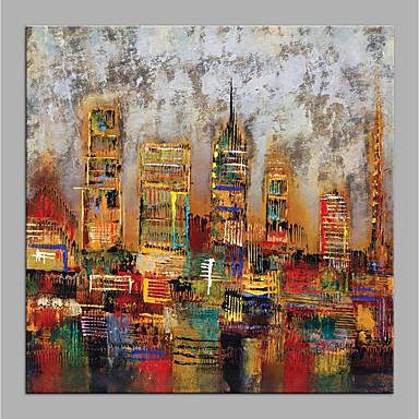 Oil Painting Hand Painted Abstract Architecture Modern