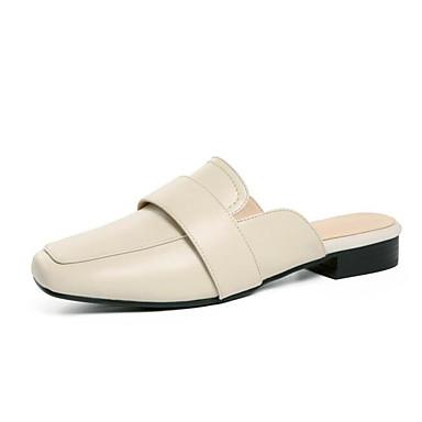 Talon Femme Beige Bas amp; Noir Sabot Confort Eté 06830315 Printemps Chaussures Cuir Nappa Mules rnqwz7rS