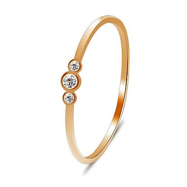 billige Motering-Dame Forlovelsesring Tail Ring Diamant Krystall Kubisk Zirkonium 1pc Gull Sølv Kobber Sirkelformet damer Klassisk Søt Engasjement Gave Smykker Enlig Snor 3 stein Fortid nåtid fremtid Dråpe Smuk