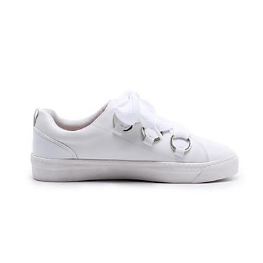Talon Bout Blanc Cuir Nappa rond Confort Printemps 06782277 Basket Femme Plat Automne Chaussures S0qgxg