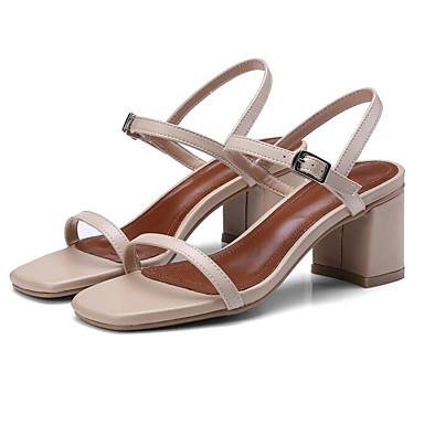 des des des chaussures en cuir au confort des sandales chunky nappa printemps noir / almond 8230d5