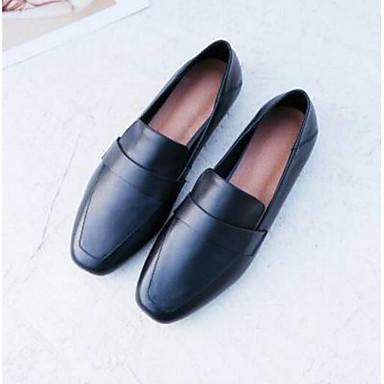 et D6148 Femme 06797477 Cuir Nappa Heel Eté Block Confort Bout Mocassins Noir Amande fermé Chaussures Chaussons 88rqwY