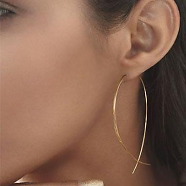 baratos Bijuteria de Mulher-Mulheres Brincos Curtos Barato senhoras Simples Europeu Estilo simples Fashion Elegante Brincos Jóias Preto / Prata / Dourado Para Festa Diário Casual