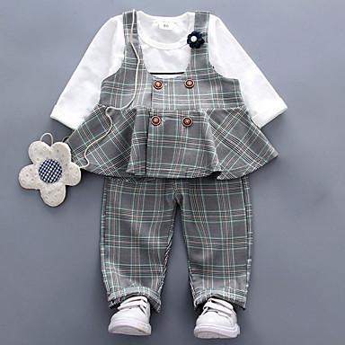 Dijete Djevojčice Osnovni Print Dugih rukava Duga Komplet odjeće / Dijete koje je tek prohodalo