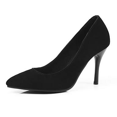 Gris Printemps Escarpin 06827628 Femme Noir Bout Talons Aiguille Confort Cuir Chaussures Marche pointu Chaussures à Rose Basique Talon EEwpZ