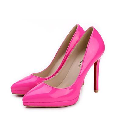 Verni Talon 06778514 Chaussures Chaussures Chair Pêche Bout Printemps Aiguille Escarpin à été Cuir Basique pointu Noir Femme Talons vEqTxwfv