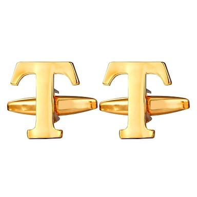 Alfabetico Argento - Dorato Gemelli Rame Lettere Dell'alfabeto Metallico - Da Cerimonia Per Uomo Bigiotteria Per Regalo - Quotidiano #06825019