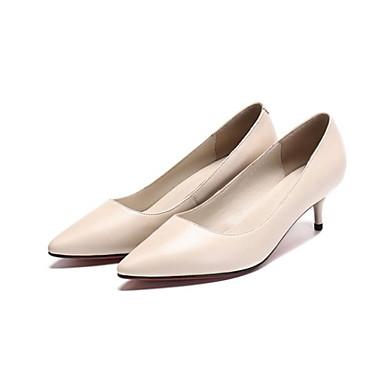 Talon Confort Chaussures à Talons Printemps 06836474 Basique Aiguille Beige Cuir Nappa Femme Escarpin Noir Chaussures w1qvRHw