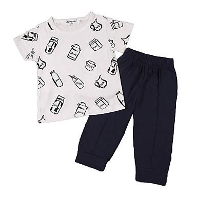 Dijete Djevojčice Aktivan / Osnovni Praznik Print Print Kratkih rukava Komplet odjeće / Dijete koje je tek prohodalo
