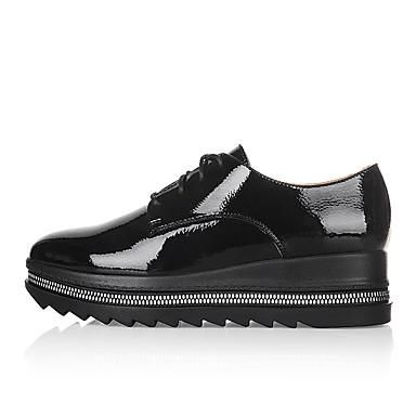 Confort Polyuréthane Creepers 06779424 Automne Vert Eté Femme Bout Oxfords Chaussures fermé Noir 7AIRf66p