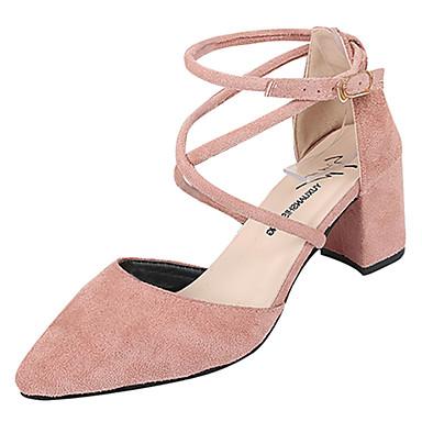 Negro 06833090 y D'Orsay Tacón Tacones Verano Puntiagudo Cuadrado Piezas PU Rosa Mujer Caqui Dos Zapatos Dedo qwZIU7