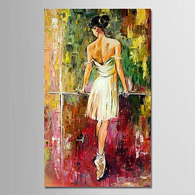 Hang oslikana uljanim bojama Ručno oslikana - Ljudi Moderna Bez unutrašnje Frame / Valjani platno