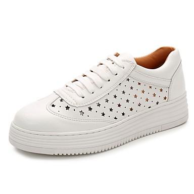Basket Cuir été Blanc Printemps Confort Creepers 06832625 Chaussures Femme XqxZzO