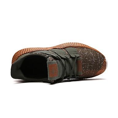 Homme Semelles légères Tricot / Maille Eté Confort Confort Confort Chaussures d'Athlétisme Course à Pied Noir / Gris / Vert Véronèse   La Fabrication Habile  69c3b8