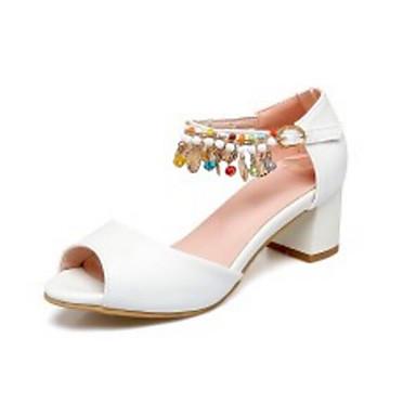 Blanc 06795562 Basique Femme royal Escarpin Polyuréthane Chaussures Rose Talon Eté Bleu Sandales Confort Bottier OOZwzBq